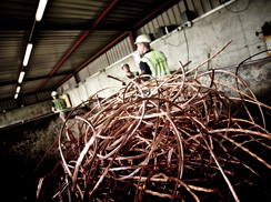 Non-ferrous metal recycling